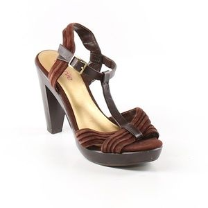 Connie brown leather heels